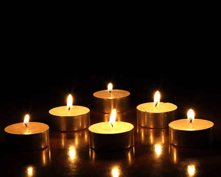 On a photo candles in the night.