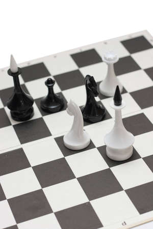 on photo chess pieces isolated on a white background photo