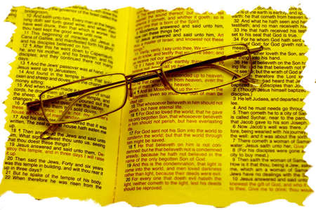 The Bible is open to the photo on the Gospel of John 3:16 Stock Photo - 7389438