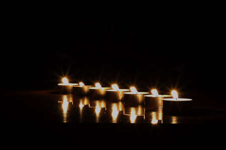 candles in the night. photo