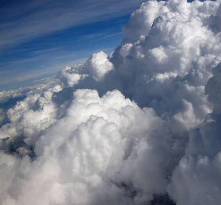 rainclouds: clouds in the blue sky