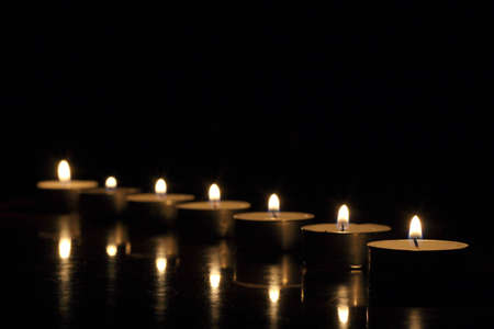 On a photo candles in the night. photo