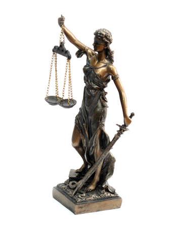 derecho romano: Una estatua de bronce de Temis