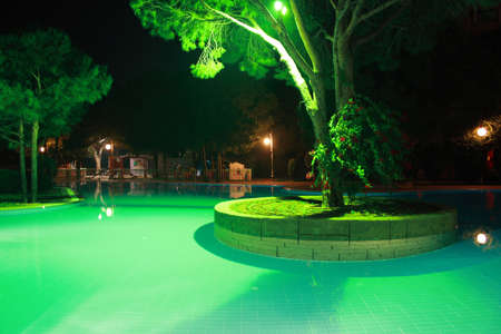 Photos of the pool. night shot