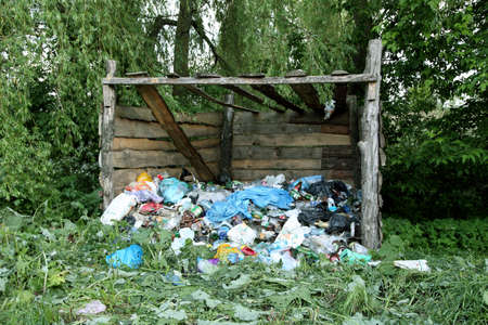 waste in nature. ecological disaster photo