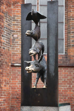 The Bremen Town Musicians statue. Riga. Latvia photo