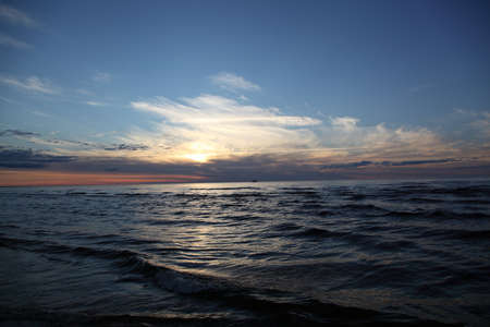 sunset over the Baltic Sea photo