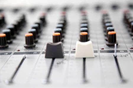 music mixer. Color button on desk photo