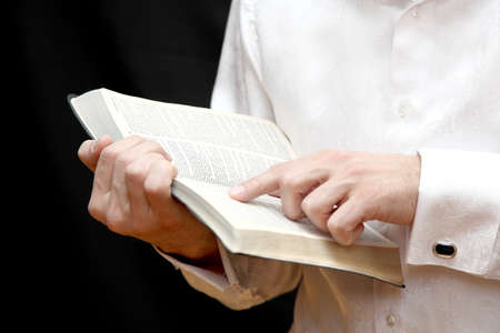Men read Holy Bible Stock Photo - 18305211