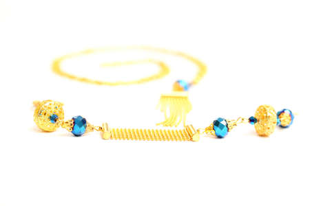 Costume Jewellery isolated on white background photo