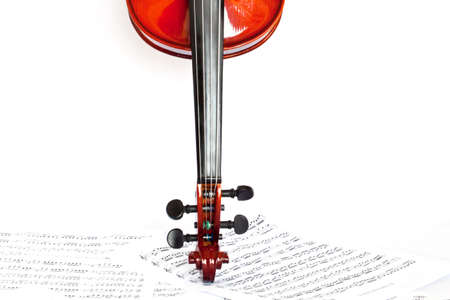 four chambers: Violin isolated on white background Stock Photo