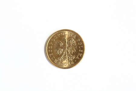Zwei Grosz Polnisches Geld Münze Lizenzfreie Fotos Bilder Und