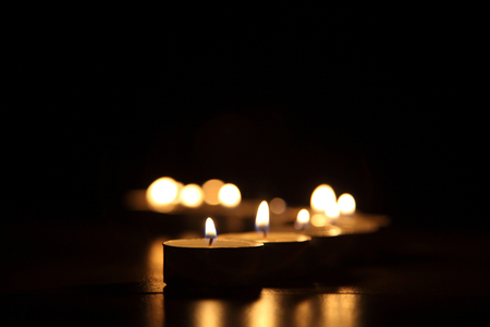 Candles on a dark background