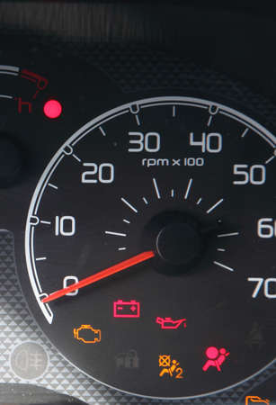 in the photo panel of the car devices, which show the fault indicators