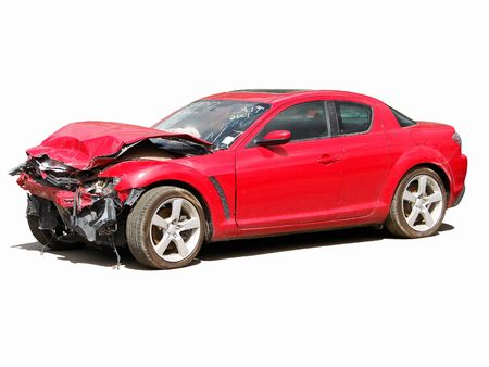 damages: auto accident                           Stock Photo