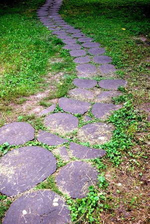 enough: A path is laid out from a stone