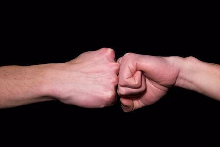 handshakes:  fist in a fist