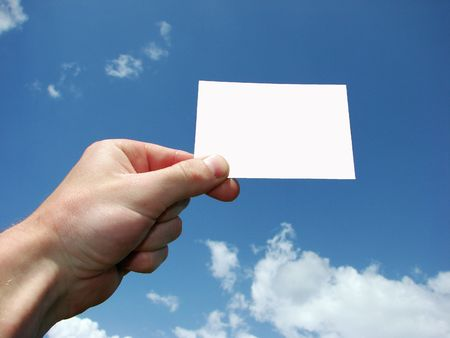 Hand holding the blank card Stock Photo - 3010567