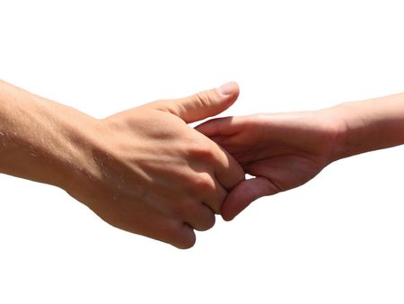 Hand in a hand                     Stock Photo - 3028054