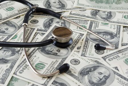Stethoscope on money Stock Photo - 3049912