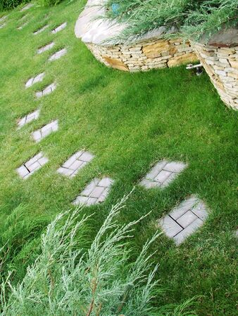 Garden stone path                                 Stock Photo - 3052440