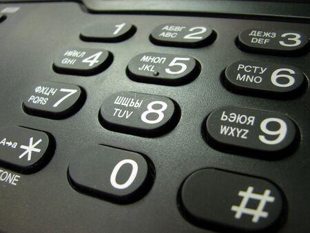 operating key:  telephone  keypad
