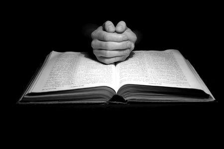 jesus praying:  Bible Stock Photo