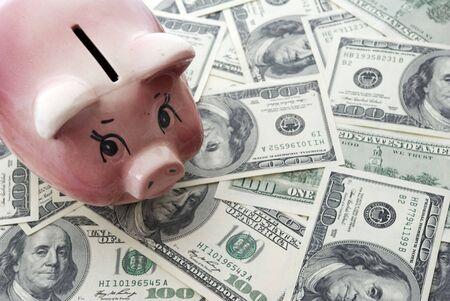 balanced budget: piggy bank