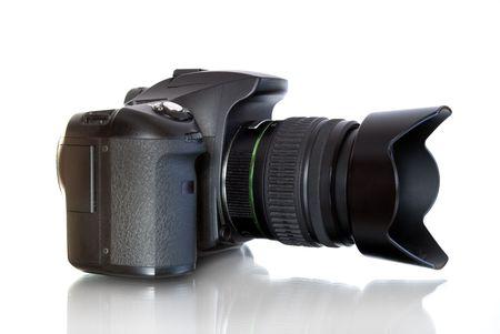 megapixel: digital photo camera  isolated on white