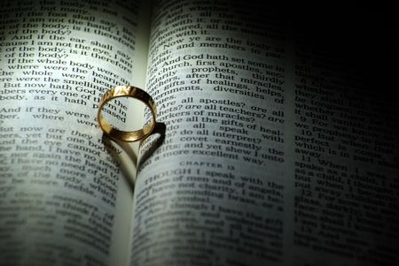 ring and  Bible photo