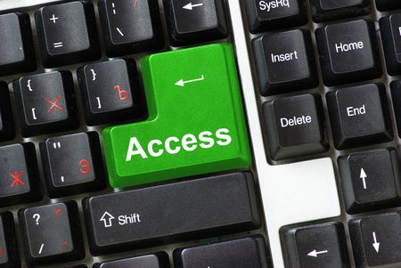 Keyboard green key Access photo