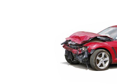 auto glass: wreck