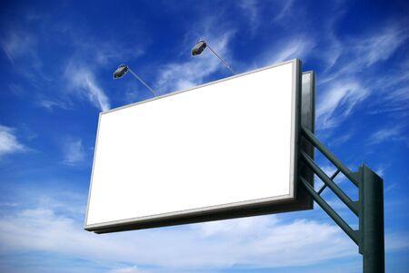 billboard on background sky photo