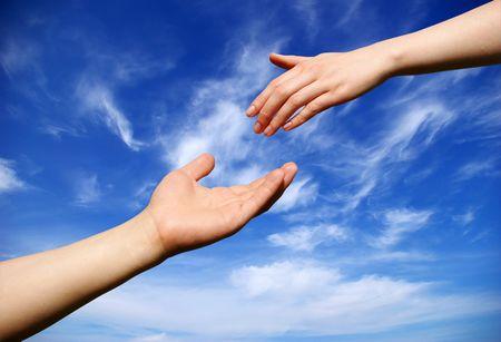 helping hand Stock Photo - 3425988