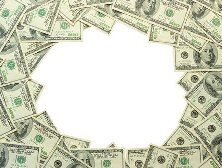 Frame made of money  photo