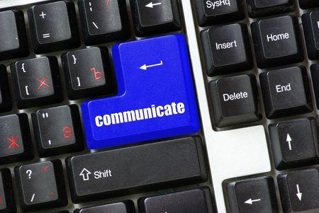 button of communicate photo