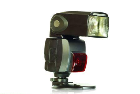 flare up: camera flash isolated  Stock Photo
