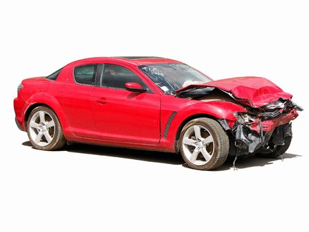auto accident truck hit right front Stock Photo - 3627567