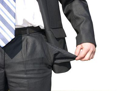 moneyless: bankrupt Stock Photo