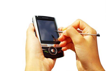 communicator: hands with communicator