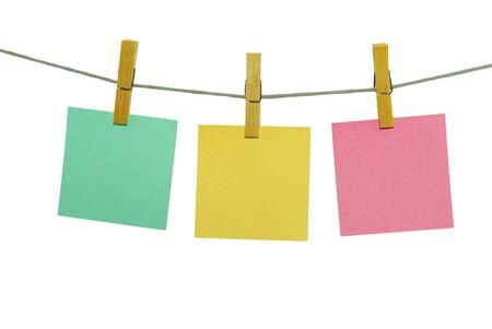 blanks: note paper blanks on rope