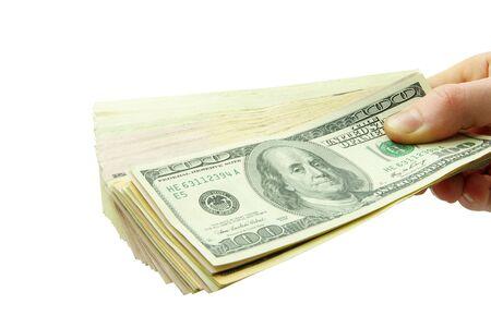 Hand with money  photo