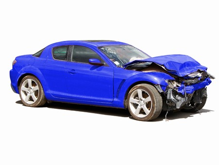 auto accident truck hit right front                                Stock Photo - 4199760