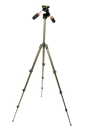 Camera tripod with white background  photo