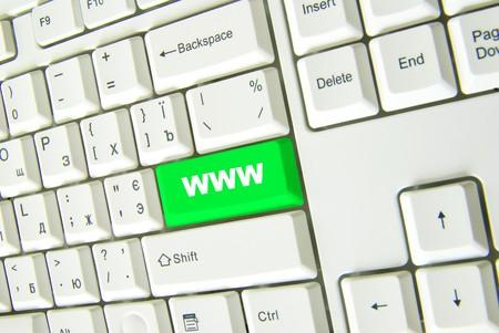 Computer keyboard  green Internet key. business concept Stock Photo - 4377654