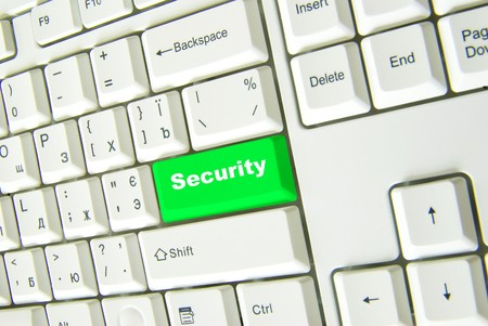 Keyboard with green button of connect to security photo