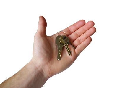 hand holding the key of success Stock Photo - 4588560
