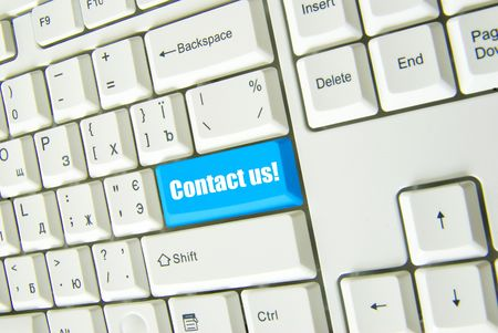 Keyboard  blue key Contact us . business concept Stock Photo - 4628596