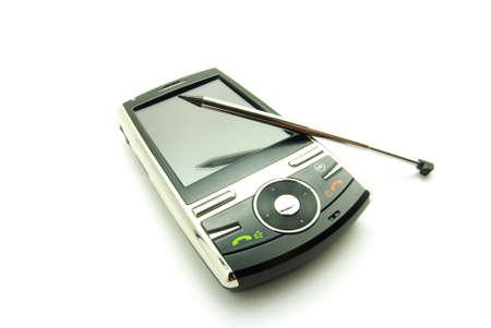 communicator: Modern smartphone isolated over white