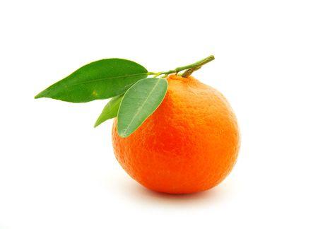 fruitage: tangerine isolated on a white background Stock Photo